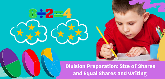 Bundle 3: Division Preparation: Size of Shares and Equal Shares and Writing
